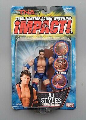 wwe tna wwf ljn classic superstars variant blue aj styles wrestling figure