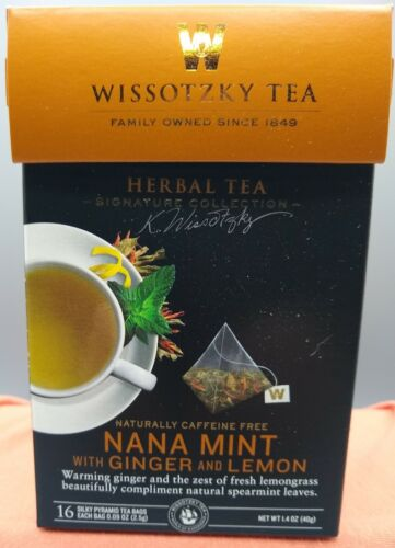 Wissotzky Tea Signature Collection Nana Mint with Ginger and