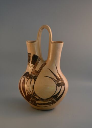 "Large Traditional Vintage Hopi Wedding Vase Pot Pauline Setalla - 11"" Tall"