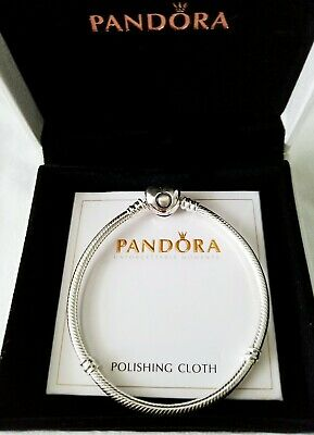 Pandora Moments Heart Clasp Snake Chain Bracelet STERLING SILVER ALL SIZE