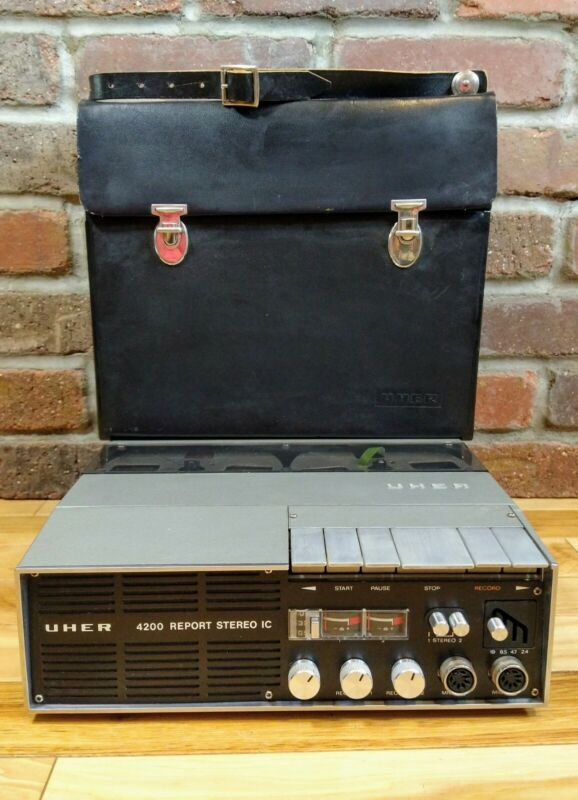 Uher 4200 Report Stereo IC Portable Reel-to-Reel Tape Recorder