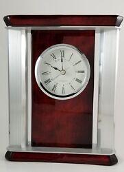 JORG GRAY Vettore Mahogany Desk Clock Desktop Timepiece
