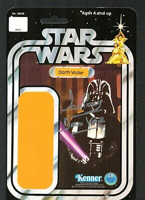 DARTH VADER Star Wars David Dave Prowse Signed Autograph Action Figure Card, used for sale  Shipping to India