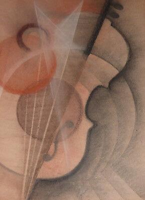 Avantgarde Musikinstrument Geige Violine Gemälde Futurismus Konstruktivismus ()