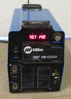 2014 Miller Xmt 350 Cccv Mig Tig Stick Multi Process Welder