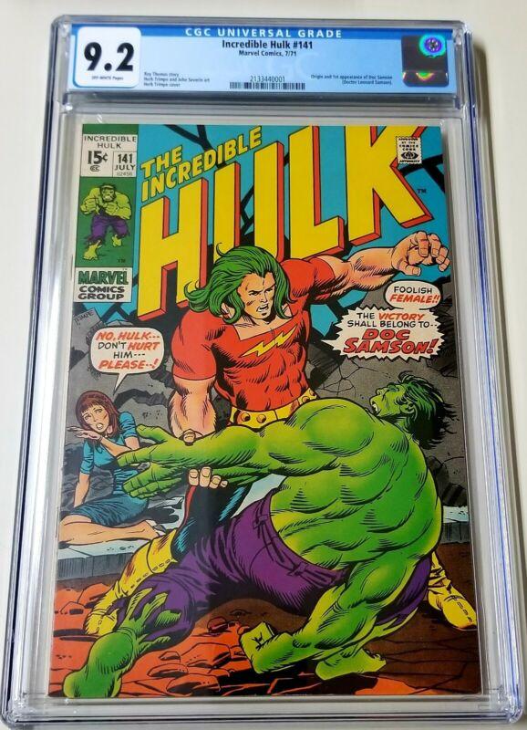 Incredible Hulk #141 OW CGC 9.2 1st App Doc Samson 1971 MARVEL