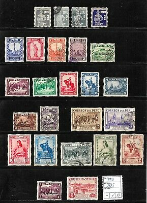 (57602) PERU CLASSIC STAMPS 1931/1935 NICE SELECTION USED UNUSED