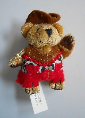 Furryville Miniature Jointed Plush COWBEAR Cow Bear Little Dollhouse Pet Animal - $5.00
