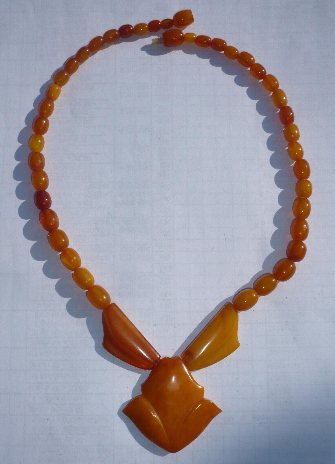 Amber SBM Halskette Oliven Kette Amber Necklace