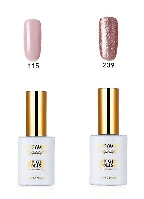 2 PIECES RS  Gel Nail Polish 115_239UV LED Sequined Varnish Soak Off 15ml New