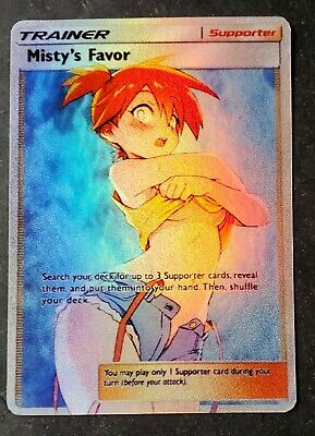 POKEMON: MISTY'S FAVOR - FULL ART HOLO CUSTOM ORICA CARD - NOT TCG READ DESCRIPT