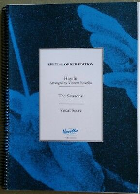 Haydn-The Seasons, Vocal Score-Special Order Edition(Arranged by Vincent Novello
