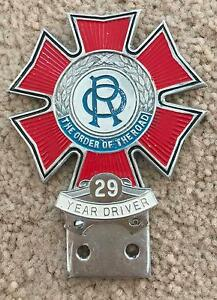 Automobile Car Grill Badge - The Order Of The Road - 29 Year Latrobe Latrobe Area Preview