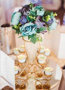 Gold centrepieces- candelabras - wedding decorations Thornton Maitland Area Preview