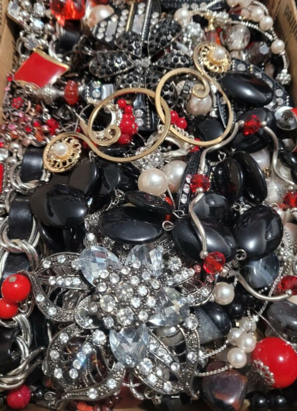 #26 Huge Harvest Craft Jewelry Lot 2-3 Full lbs Vintage to Now *NO TRASH*