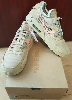 The then 10 Nike Air Max 90 x Off White - Desert Ore 9.5us
