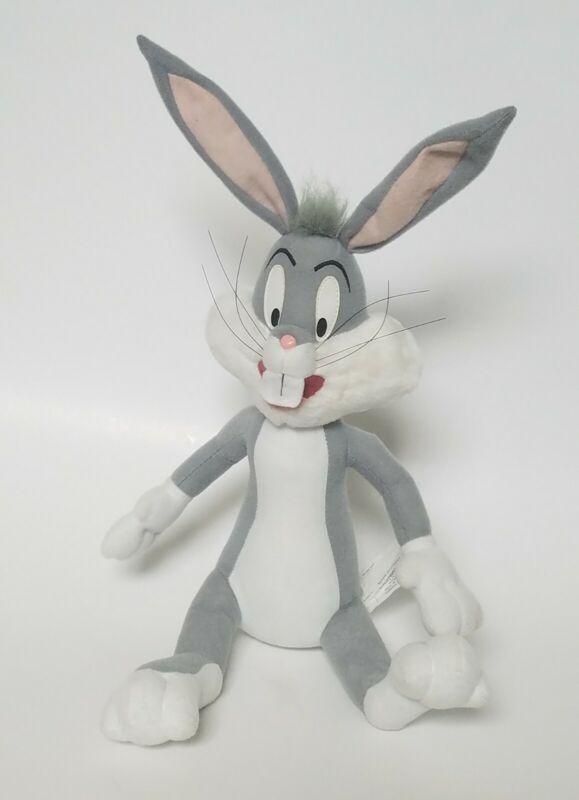 "1998 Bugs Bunny 10"" Posable Ears Sitting Plush Vintage Looney Tunes"