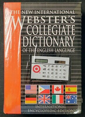 New! Webster's Collegiate Dictionary International Encyclopedic Edition Hardback