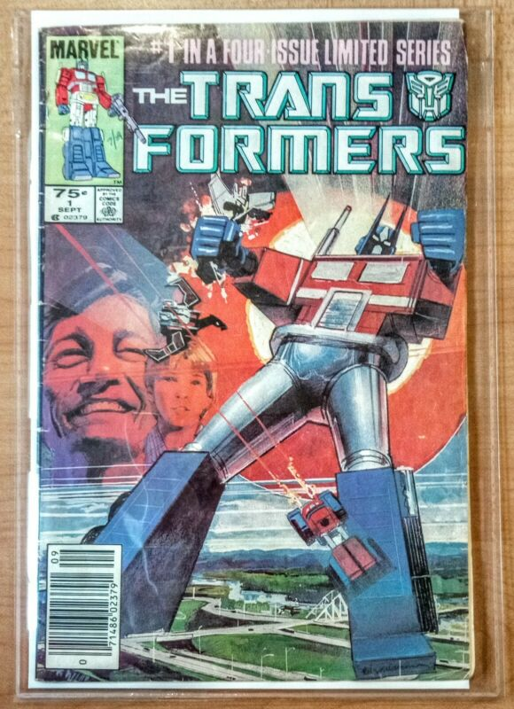Transformers #1 Marvel Comic Book 1984 Copper Age Newsstand Autobots F/VF