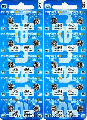 20 pc 362 Renata Watch Batteries SR721SW FREE SHIP 0% MERCURY
