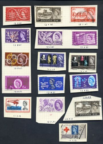 1950-1964 Great Britain Stamps Lot of 63