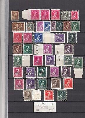 BELGIUM King Leopold 3rd nice varieties overprints MNH (CV $515 EUR450)