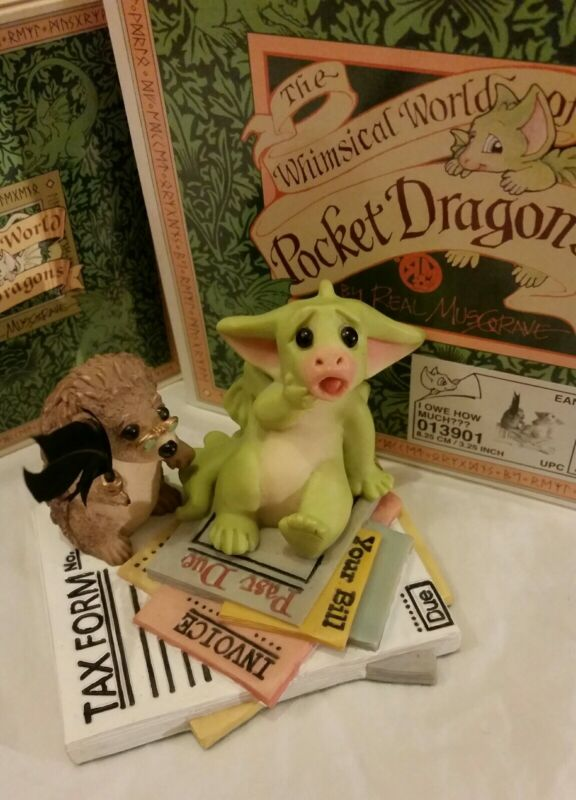 RRD 💖 Pocket Dragons Dragon *Mint in Box*Signed* 💸I Owe How Much???💸 * 2003 *