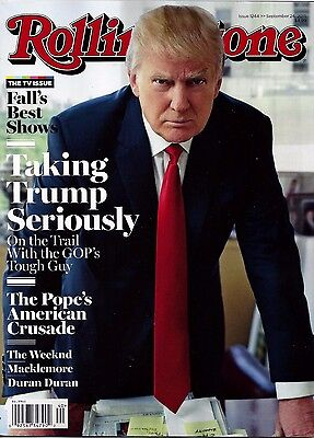 NEW Rolling Stone Magazine Donald Trump 9/24/15 USA Edition No Mailing Label!