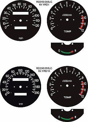 WATER COOLED RD250 RD350 RZ250 RZ350 LC MARS SPEEDO CLOCK DIAL FACES