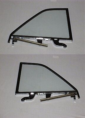 61-64 Buick Chevy Oldsmobile Pontiac Left Right Assembled Clear Quarter Glass