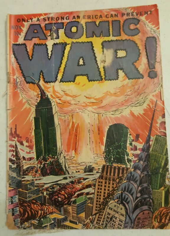 ATOMIC WAR! #1 ~ Atomic bomb explosion cover ~ GA Pre-code War Comic - Scarce!