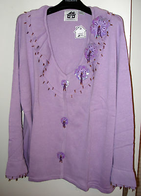 HSN - STORYBOOK KNITS  - LAVENDER LUSTER SWEATER-  SIZE 3X - NEW WITH TAGS