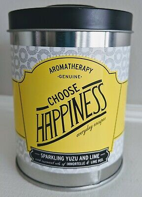 Choose Happiness Candle Illume sparkling yuzu & lime scent 8.6 oz In Tin