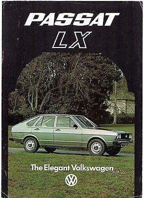 Volkswagen Passat LX 5-dr Limited Edition 1977 UK Market Leaflet Sales Brochure