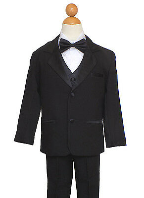 BOYS HUSKY SIZE:18 RECITAL, HOLIDAY PARTY SUIT SET, BLACK/WHITE - Boys Suit
