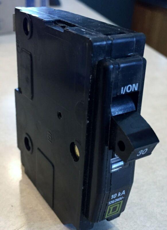 ~SQUARED,30 amp. CIRCUIT BREAKER, single pole, Used., 120 amp