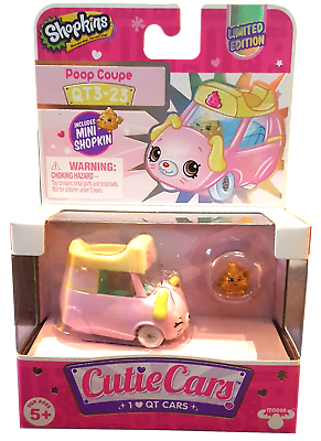 Ultra Rare Shopkins Cutie Cars Season 3 Limited Edition Poop Coupe Qt3 23 Ebay