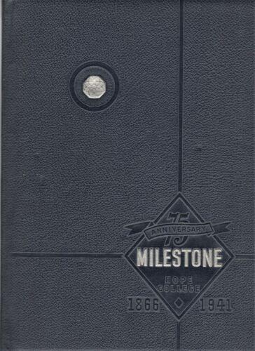"1941 ""Milestone"" - Hope College Yearbook - Holland, Michigan +"
