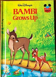 Walt Disney Bambi Grows Up Grolier HB Book 1979 Wonderful World of Reading