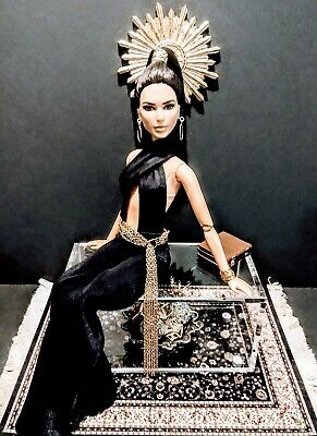 """1/6 Scale 12""""Action Figure / Barbie Doll Size Chic Acrylic Coffee Table LAST ONE"""