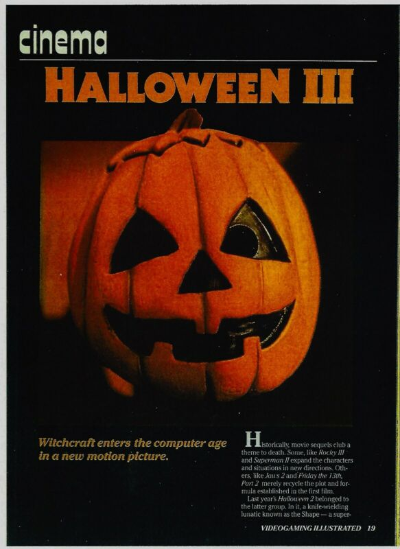 Don Post HalloweeN III Mask RAREly Seen Trade Article w/Alternate Tag Line! 1982