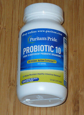 Puritan's Pride's Probiotic 10 120 capsules 20 Billion Active cultures
