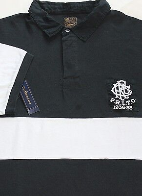 Cotton Mesh Rugby (New $135 Polo Ralph Lauren Short Sleeve Black Cotton Mesh Rugby / BIG)
