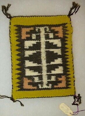Indians Authentic Mini - Authentic Native American Indian Navajo Mini Rug by Nellie Begay