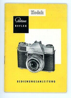 Kamera Bedienungsanleitung KODAK RETINA REFLEX User Manual Anleitung Y2508