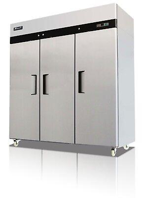 Migali C-3r-hc Commercial Three Door Refrigerator Reach In 72 Cu. Free Shipping