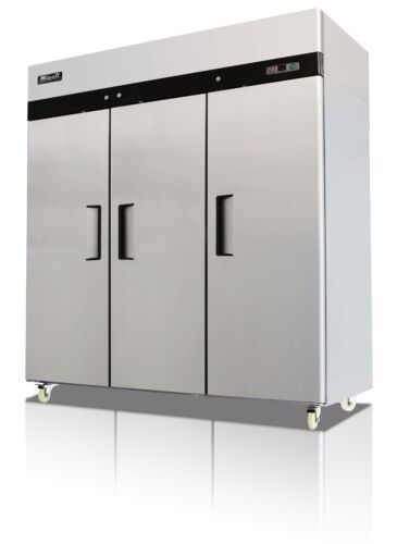 Migali C-3r Commercial Three Door Refrigerator Reach In 72 Cu. Free Shipping