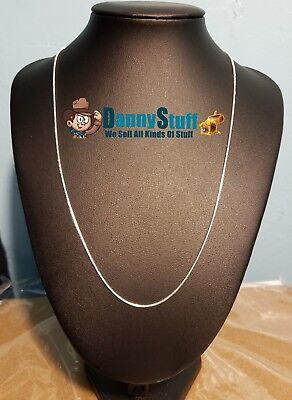 (2mm Round Snake Chain Necklace 925 Sterling Silver 20 inch New Free Shipping USA)