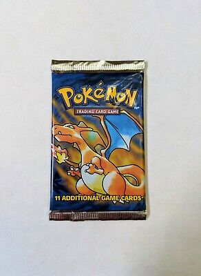 POKEMON 1999 BASE SET Unweighted Booster Pack Factory Sealed CHARIZARD-ART