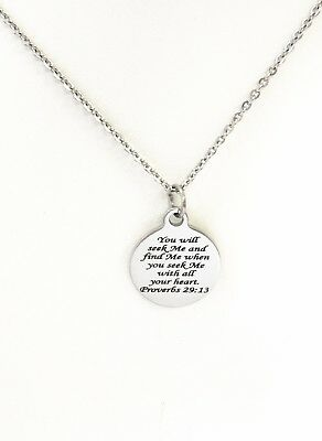 Bible Verse Jewelry, Christian Jewelry, You Will Seek Me And Find Me